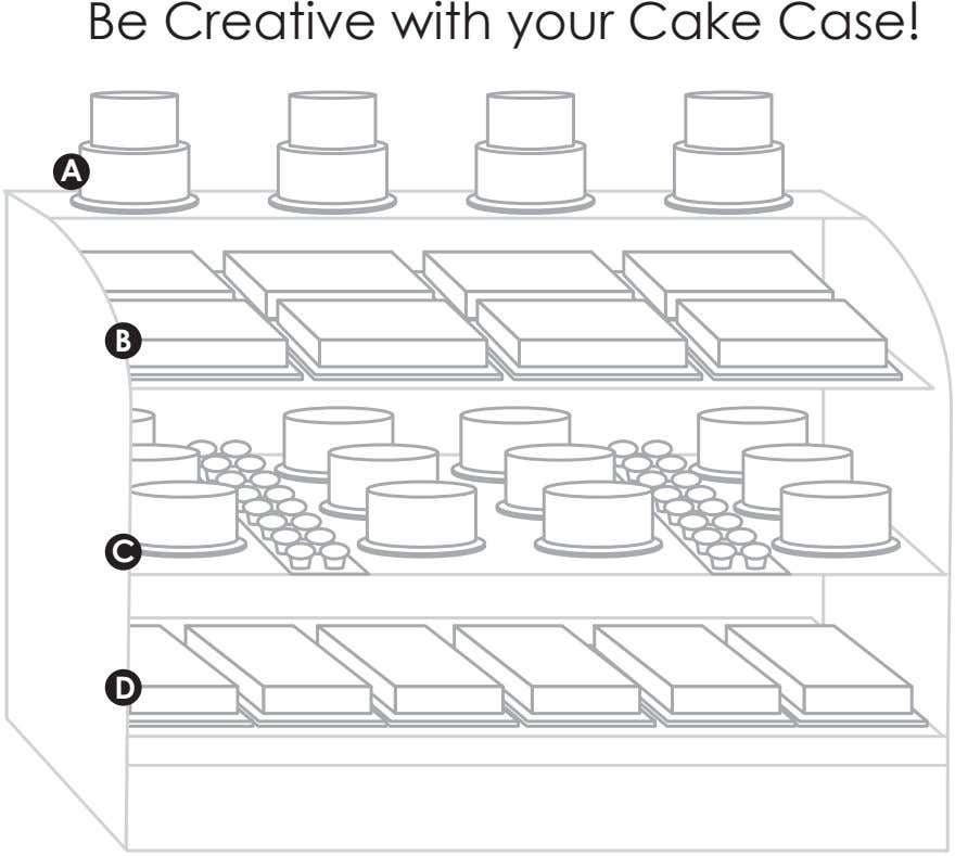 Be Creative with your Cake Case! A B C D