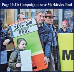 Page 10-11: Campaign to save Markievicz Pool