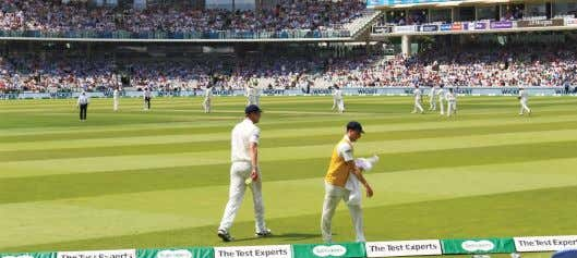 resigned as chairman from the Rinn Voyager programme. Lorcan Tucker (wearing yellow bib) at Lords. Image