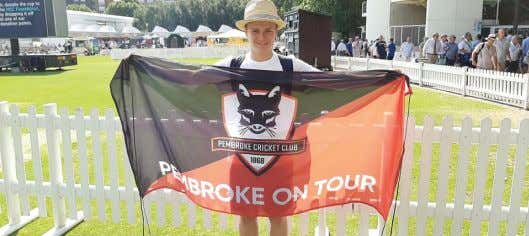 cricket team at Lords. Image by Sean Smith, Pembroke Foxes. Pembroke Foxes on tour at Lords.