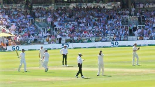 on tour at Lords. Image by Sean Smith, Pembroke Foxes. Andy Balbirnie scoring his 50th innings