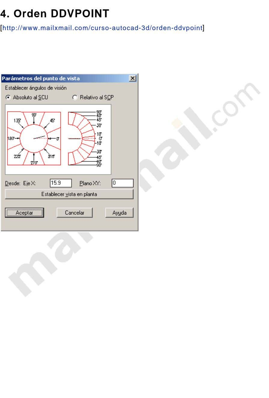 4. Orden DDVPOINT [http://www.mailxmail.com/curso-autocad-3d/orden-ddvpoint]
