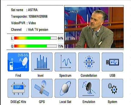 coaxial cable Introduction of Main Menu 1. DVB-S/S2 System There are ten menu items in the