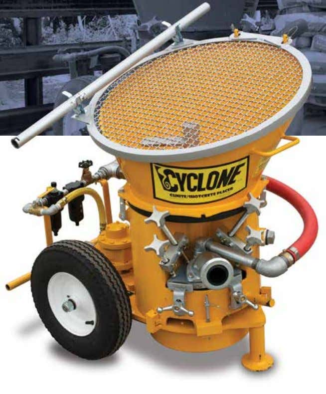 Dry Mix Equipment Cyclone CY-61A Features: • Multi-vane 5 hp air motor • Continuous feed hopper
