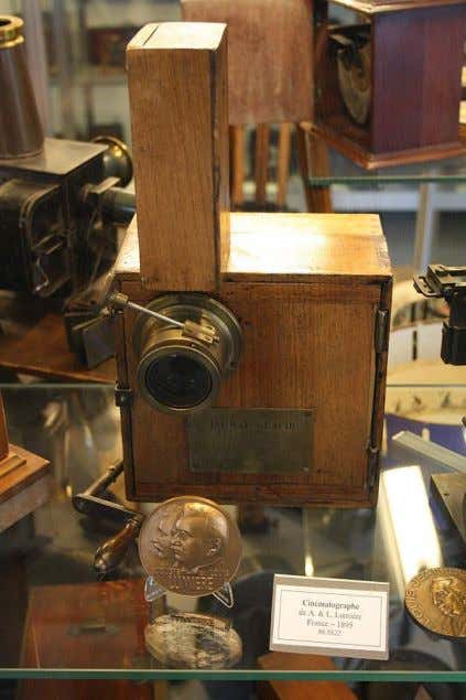 Selenium is used in light meters for the next 50 years. Cinématographe camera by the Lumière