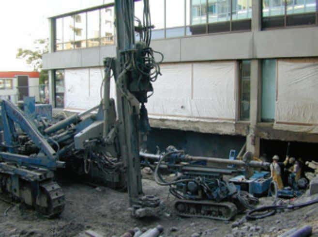 Installation references Lion Gate Hospital Mini-track mounted drill rig Installer: Kani Foundation Technology Pile