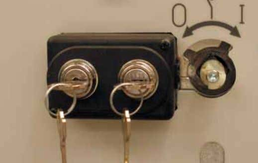 3. Accessories 1 Key locks These allow the apparatus to be locked in the closed or