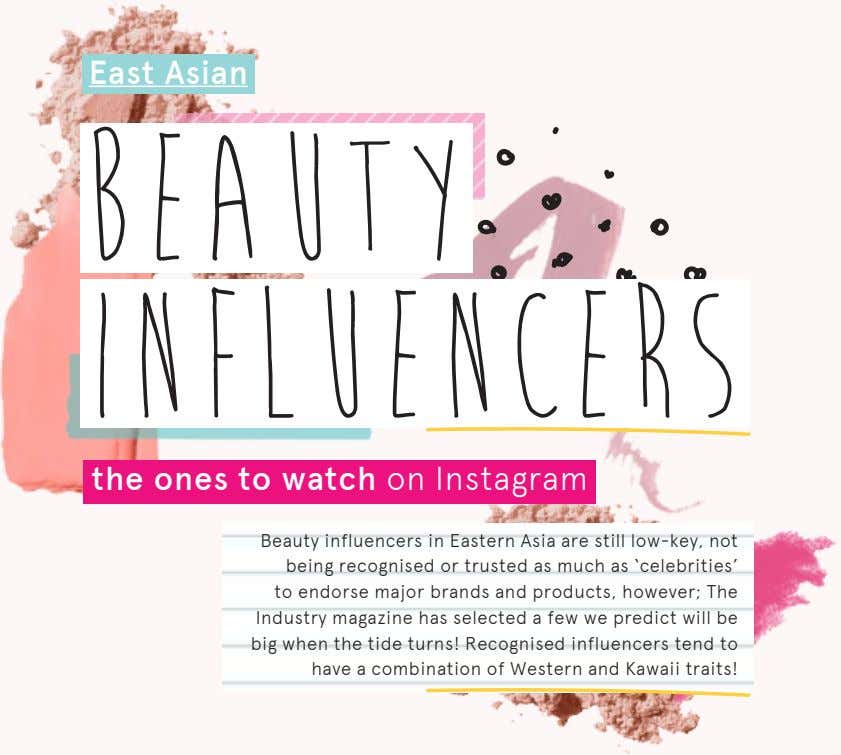 East Asian BEAUTY INFLUENCERS the ones to watch on Instagram Beauty influencers in Eastern Asia