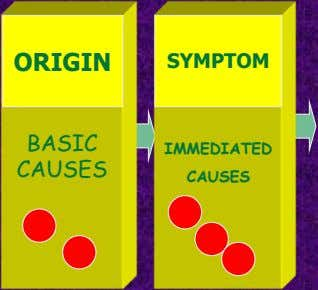ORIGIN SYMPTOM BASIC IMMEDIATED CAUSES CAUSES