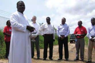 conditions will carry the unburned gas away from land). Priest praying for the site blessing. Terrestrial