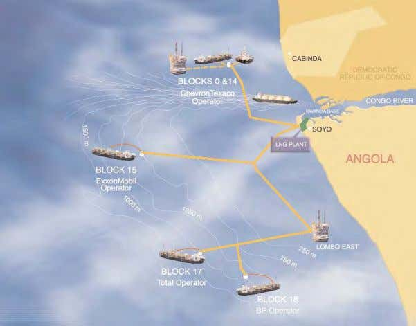 the construc- tion and operation of the proposed Project. Offshore Gas Gathering Associated with the Angola