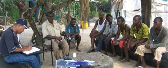 part dependent on agricul- tural activities for income and Fishing Community Consultations subsistence. Food shortages