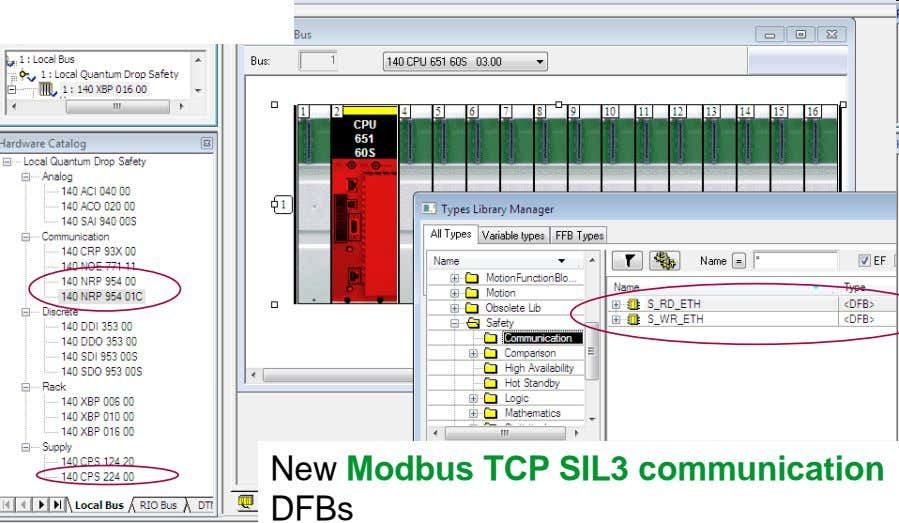 New Modbus TCP SIL3 communication DFBs