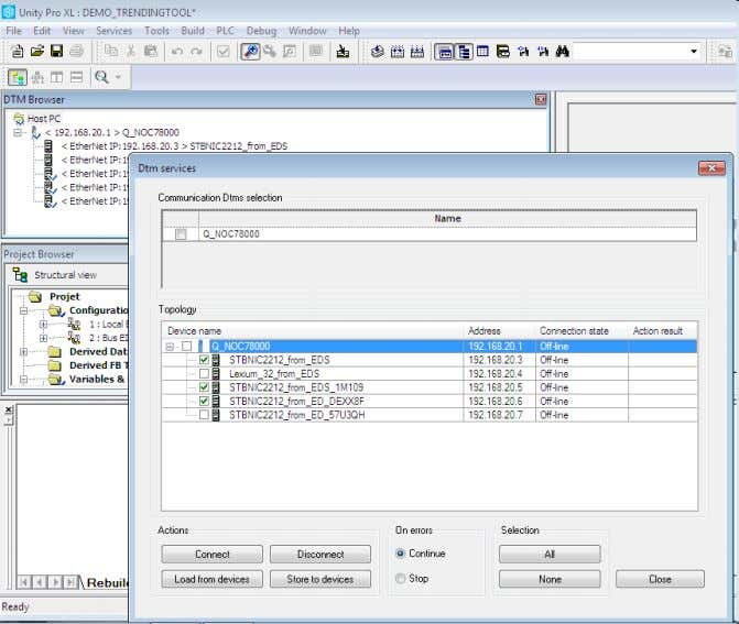 V7.0 Global DTM Services access (for download, upload…) and Allows easier and faster configuration of DTM