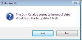 catalog from DTM Browser ● automatic update of Catalog ● Schneider Devices are presented first ●