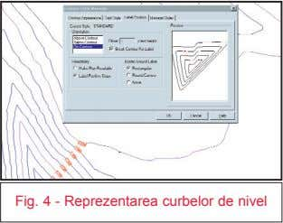 Fig. 4 - Reprezentarea curbelor de nivel