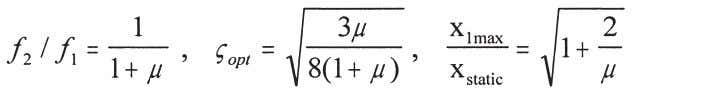 damping of the main mass is zero are given respectively by (3) where f 1 and