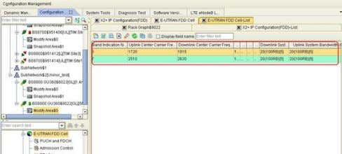Figure 4 - 2 Configuring Frequency and Bandwidth of CA Cells 4.4.1.2 Configuring CR0 Board and