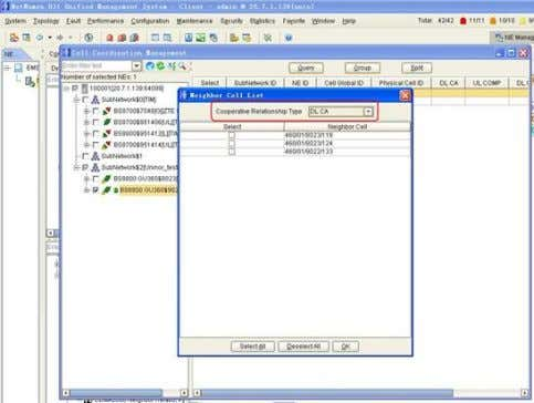 "to group with Pcell Figure 4 - 15 Coordination Configuration 5. Select ""DL CA"" in the"
