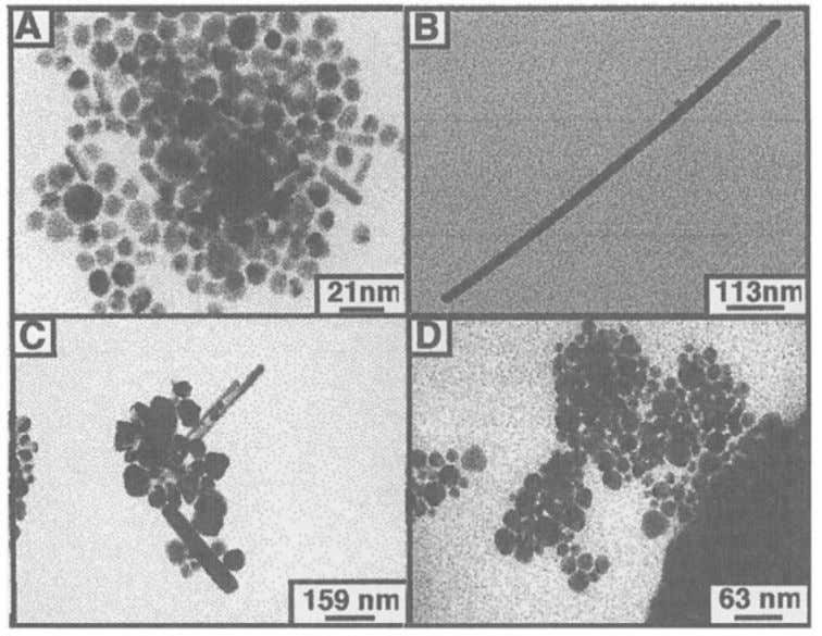 12 Synthesis in presence of NaCl induces formation of very long rods (Fig. 6B) and along