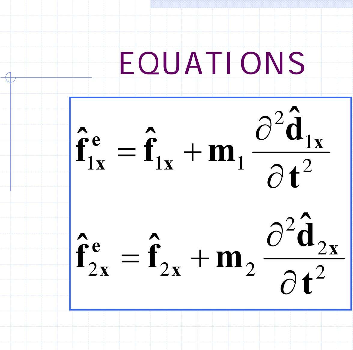 NODAL EQUATIONS 2 ˆ ∂ d ˆ e ˆ 1 x f = f +