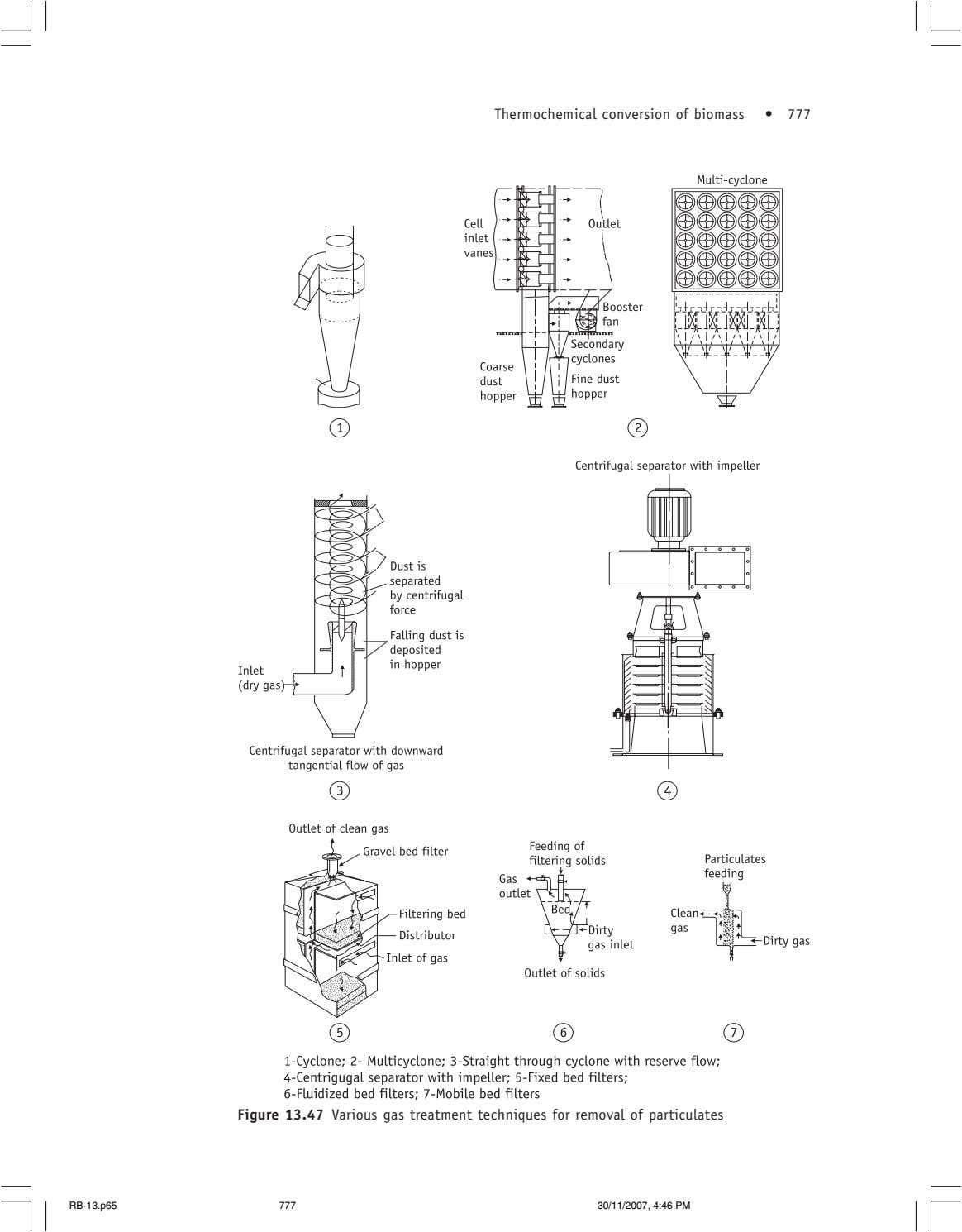 Thermochemical conversion of biomass • 777 Figure 13.47 Various gas treatment techniques for removal of