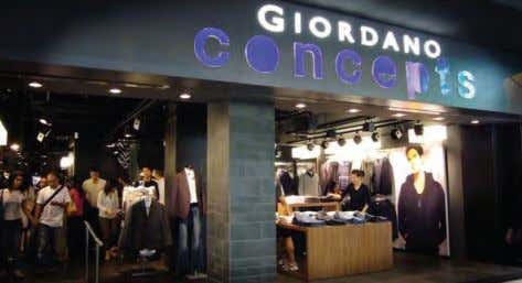 5: Giordano's first Concepts store in Hong Kong. 9 Hang Ten and Bossini were generally positioned