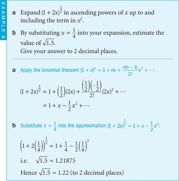 1 a Expand (1 + 2 x ) 2 in ascending powers of x up