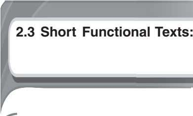2.3 Short Functional Texts:
