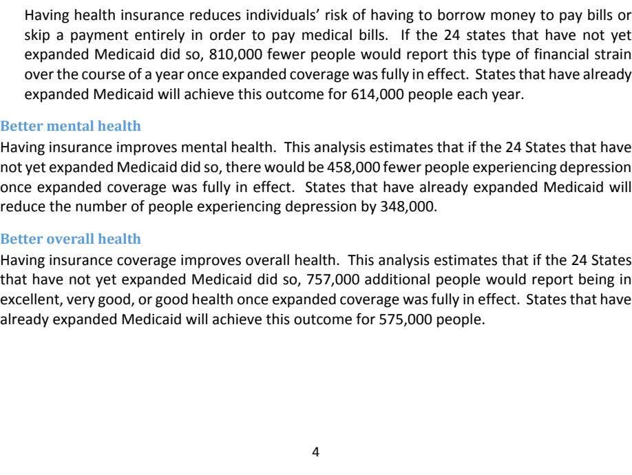 Having health insurance reduces individuals' risk of having to borrow money to pay bills or