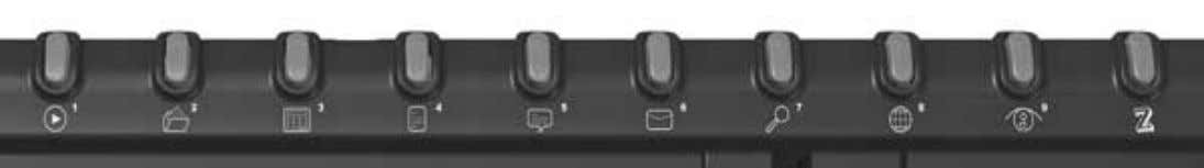 Programmable Function Hot Key Buttons under Microsoft® 9 of the 10 buttons located along the top