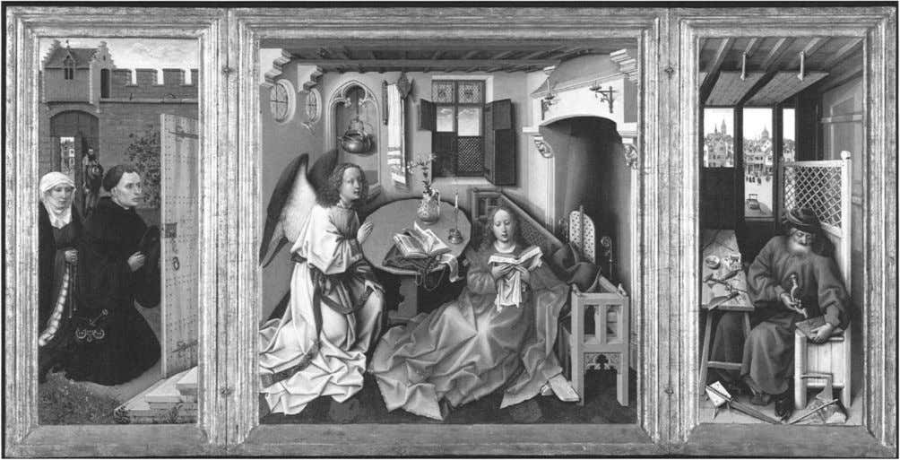 Figure 1. Robert Campin and Assistant. The Annunciation Triptych, ca. 1425. The Metropolitan Museum of