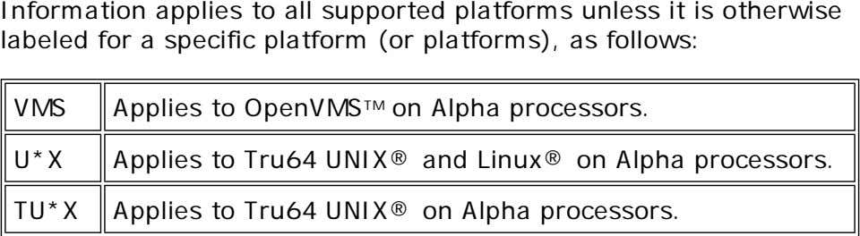Information applies to all supported platforms unless it is otherwise labeled for a specific platform