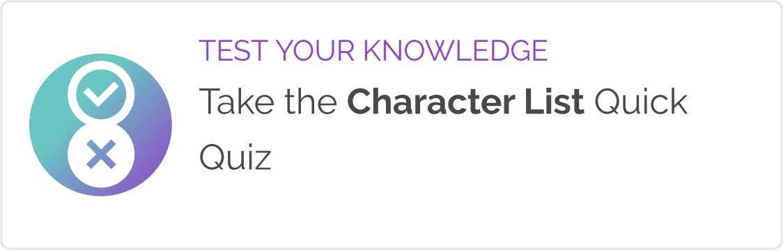 TEST YOUR KNOWLEDGE Take the Character List Quick Quiz