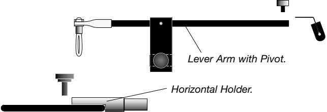 Lever Arm with Pivot. Horizontal Holder.