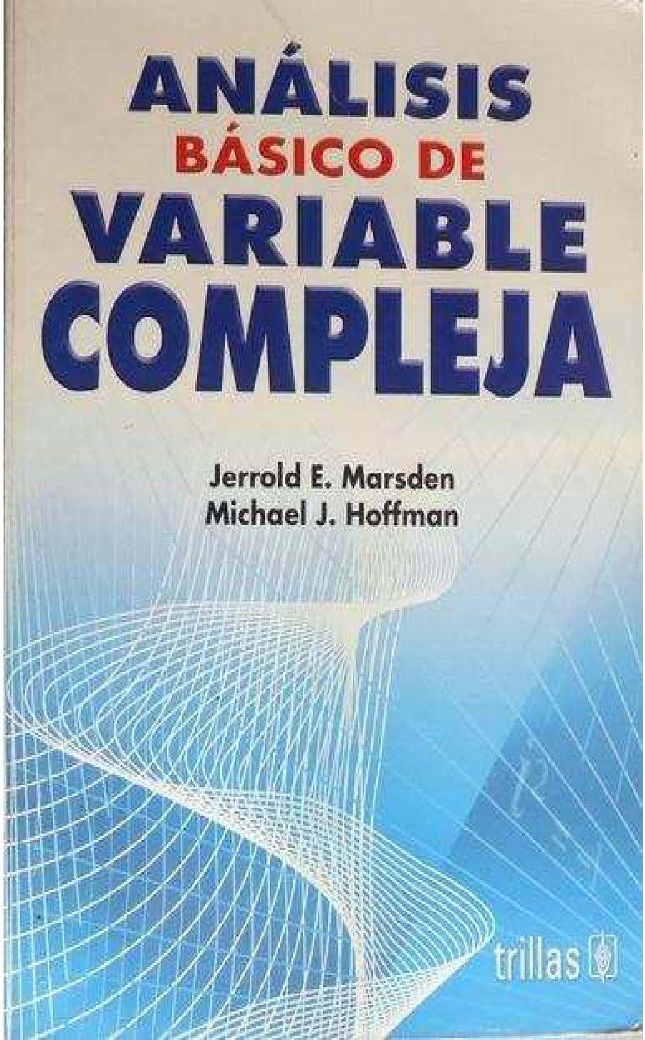 VARIABLE COMPLEJA - MARSDEN 1-753984555d
