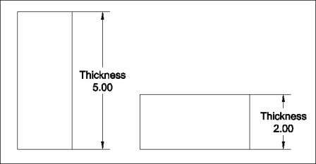 © 2004 - Kristen Kurland Thickness Changes the current thickness of an object Copyright © 2004