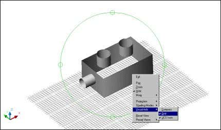Projections, Shading & Visual Aids 3D Grid Option TIP: Use GRIDUNIT to change the spacing of