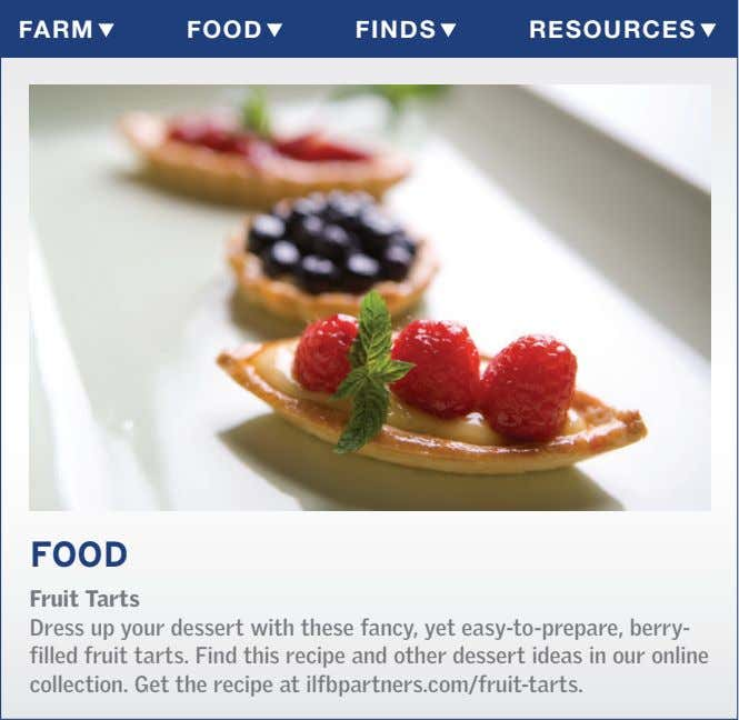 Farm Food Finds resources Food Fruit Tarts Dress up your dessert with these fancy, yet
