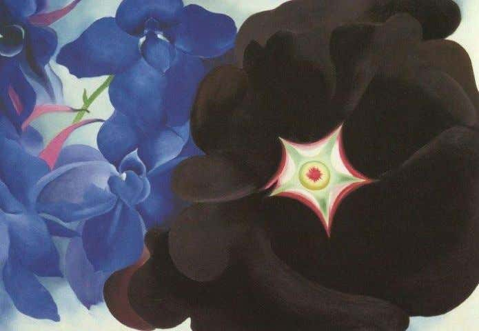 " In order to preserve one particular painting by Georgia O'Keeffe, ""Black Hollyhock, Blue Larkspur""."