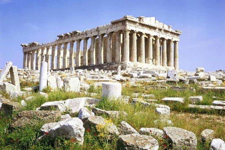  The Acropolis in Athens is a good example of the dramatic effect of pollution on
