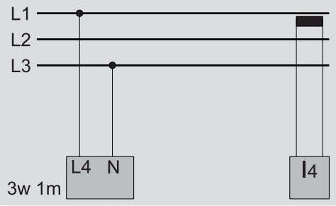 N and PE. Measurement of the current in the neutral wire. Fig. measurement in a three-phase
