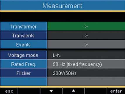 UMG 511 Measurement Configure here: • The measurement transformers for the current and voltage measurement •