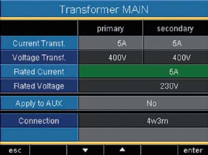 • current transients • K-factors and the • automatic graphics scaling relate to. Setting range: 0