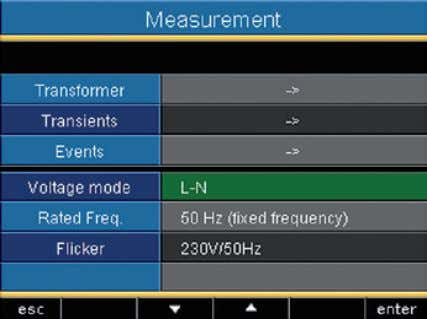 "select the setting ""L-L"" in medium vol- tage networks. C Flicker values can only be deter-"