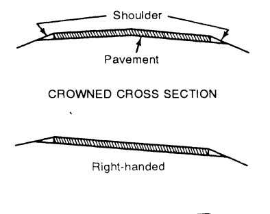 limitations in Table 11-3, page 11-4, are not exceeded. Figure 11-13. Crowned cross section and transverse-slope