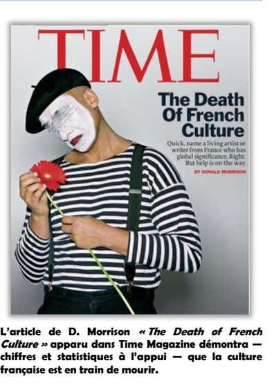 L'article de D. Morrison « The Death of French Culture » apparu dans Time Magazine