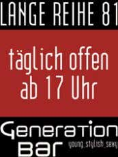 Bellini Gay Happening. Warm Up für die Samstag Nacht 21.00 Generation Bar Big City Beats. Das