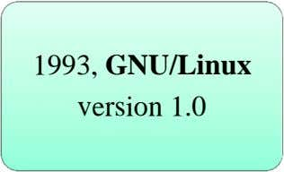 1993, GNU/Linux version 1.0