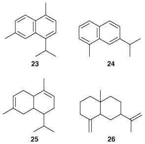 and eudesmane skeleta was widely used in the evaluation of sesquiterpenoid structures. 3 5 However